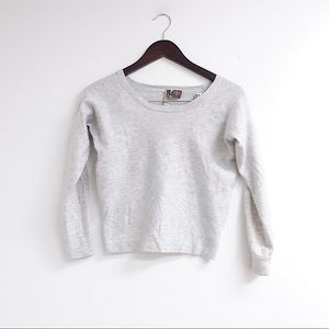100% CASHMERE GREY CROP SWEATER- INCREDIBLY SOFT☁️
